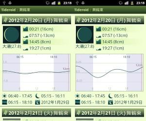 Tideroid ver1.1.0 ゲージ設定(可変・固定) Screenshot