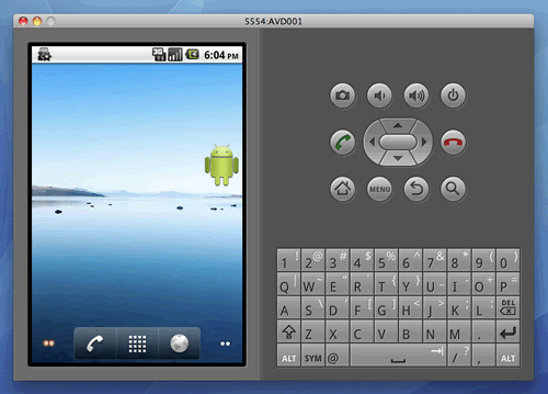 Android Virtual Device Screenshot