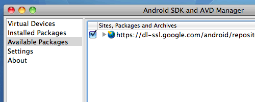 Android AVD Manager Screenshot1