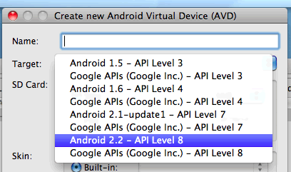 Android AVD Manager Screenshot2