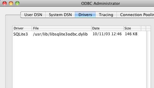Mac ODBC 設定画面1