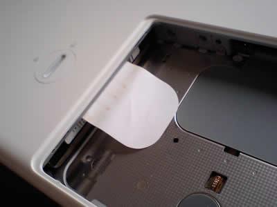 HDD を取り出すベロ
