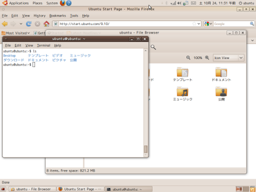 Ubuntu9.10RC Screenshot